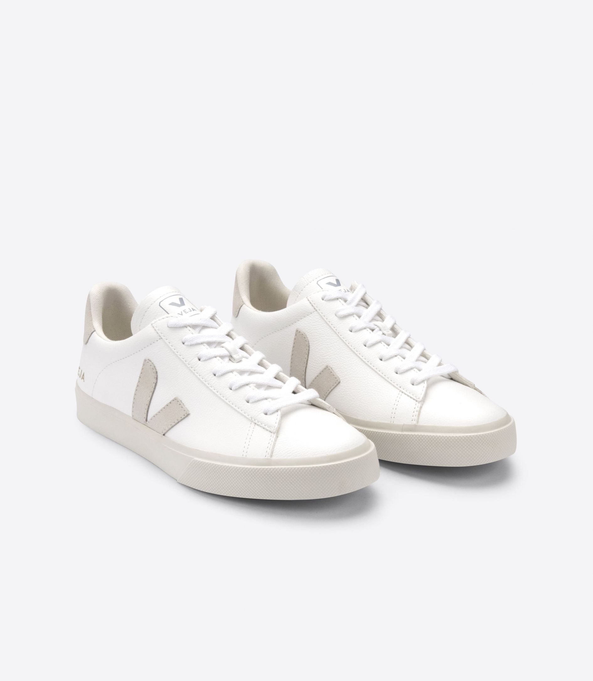 CAMPO LEATHER WHITE NATURAL SUEDE