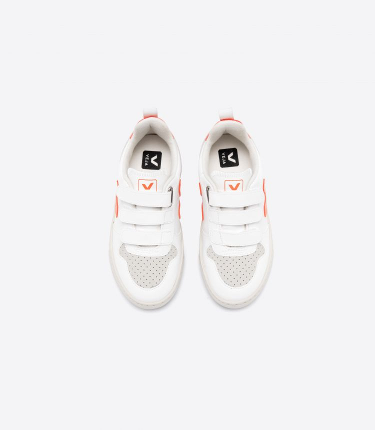 V-10 VELCRO CWL WHITE ORANGE FLUO