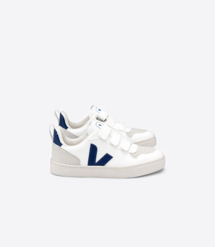 V-10 VELCRO CWL WHITE COBALT JUNIOR