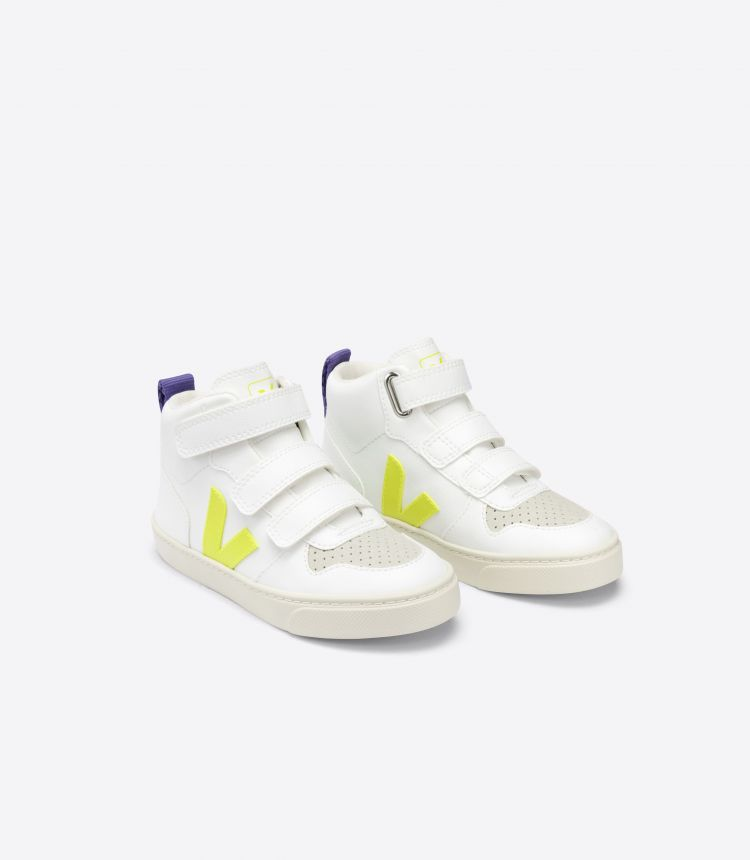 V-10 MID CWL WHITE JAUNE-FLUO PURPLE