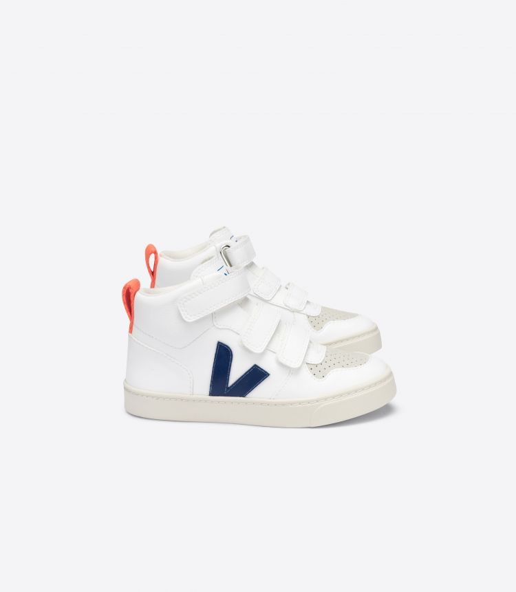 V-10 MID CWL WHITE COBALT ORANGE-FLUO