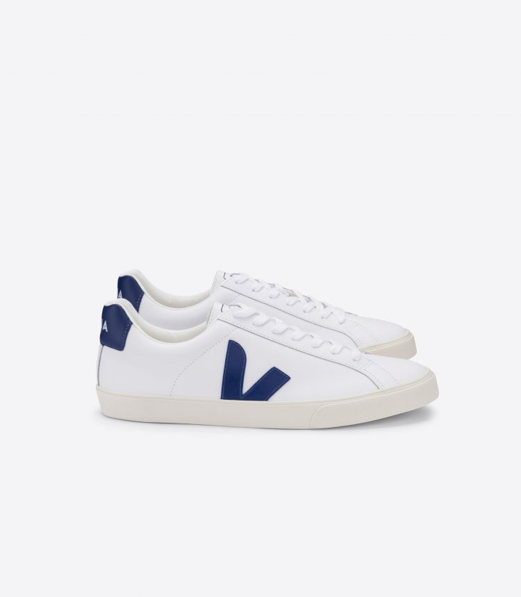 ESPLAR LEATHER WHITE COBALT