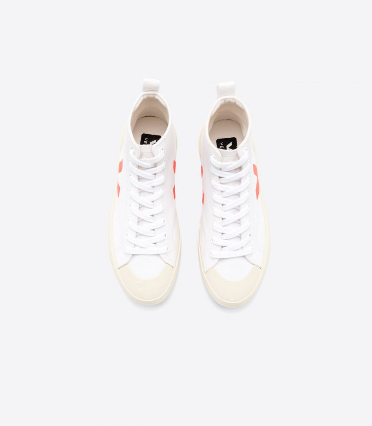 NOVA HT CANVAS WHITE ORANGE FLUO