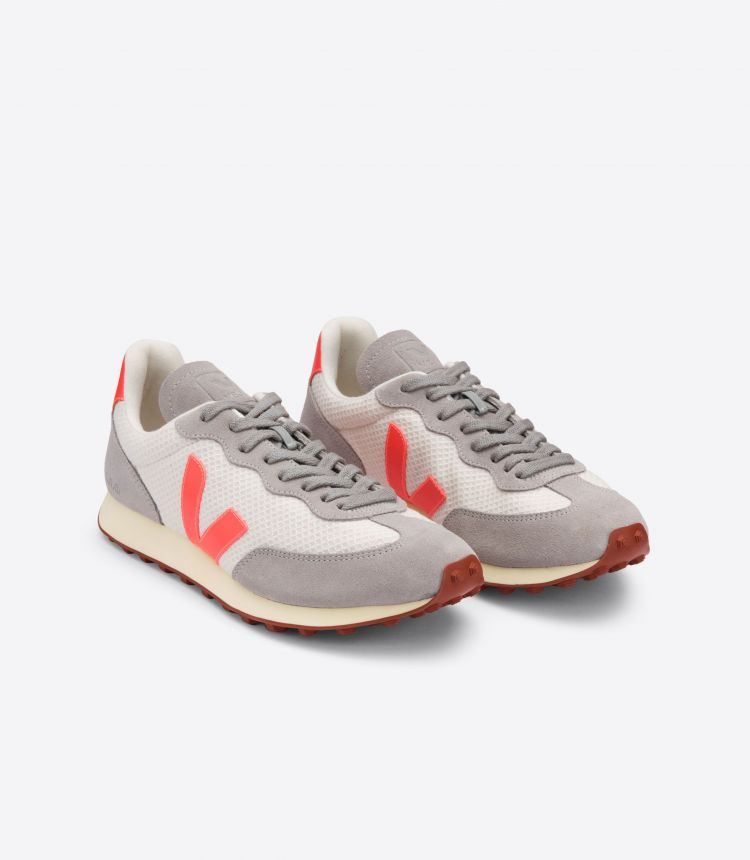 RIO BRANCO HEXAMESH GRAVEL ORANGE FLUO OXFORD GREY
