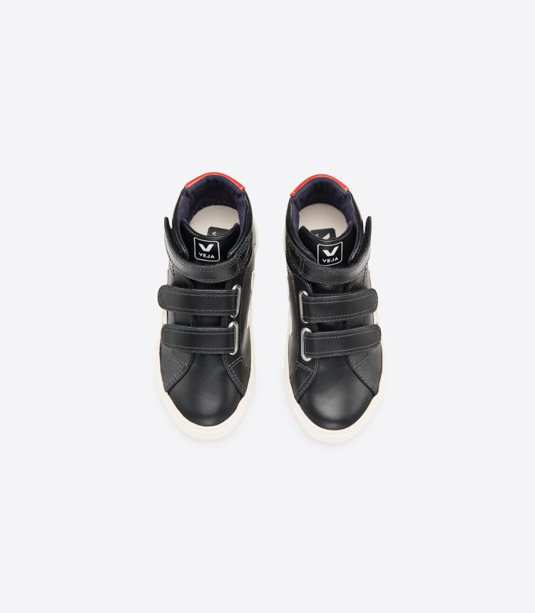ESPLAR MID VELCRO LEATHER BLACK ROUILLE