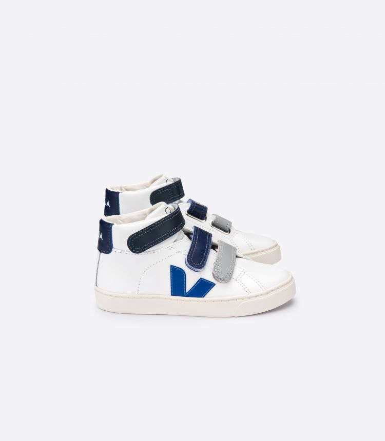 ESPLAR MID VELCRO LEATHER WHITE BLUE