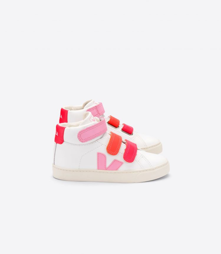 ESPLAR MID VELCRO LEATHER WHITE PINK