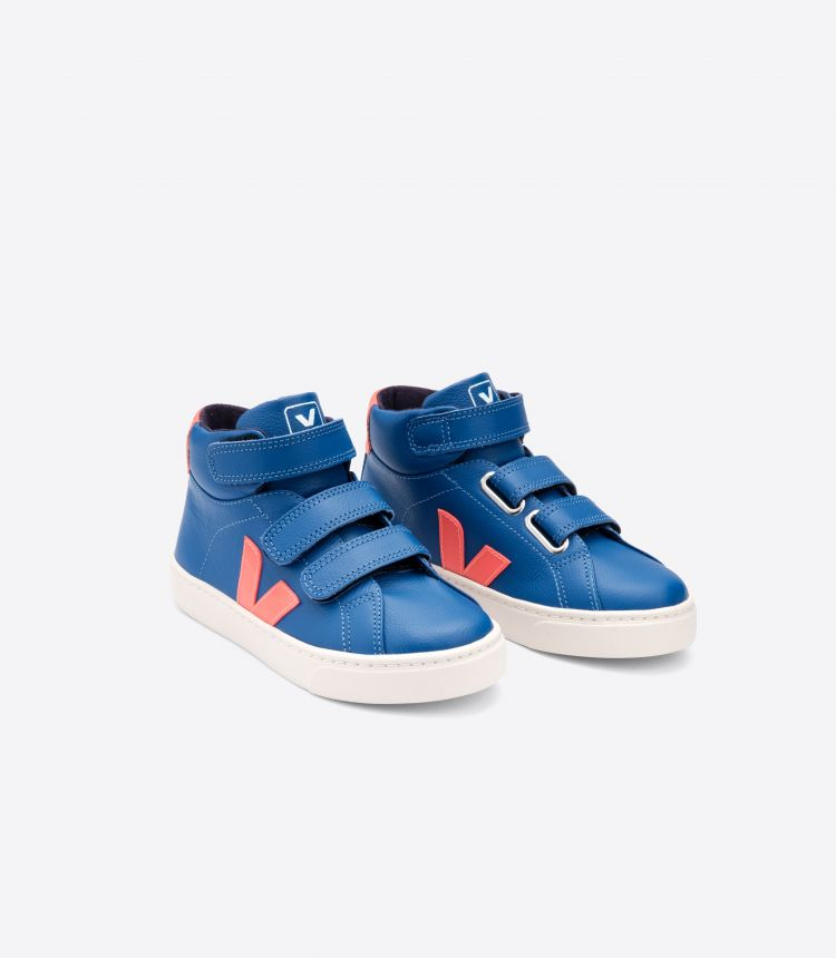 ESPLAR MID LEATHER INDIGO ORANGE FLUO