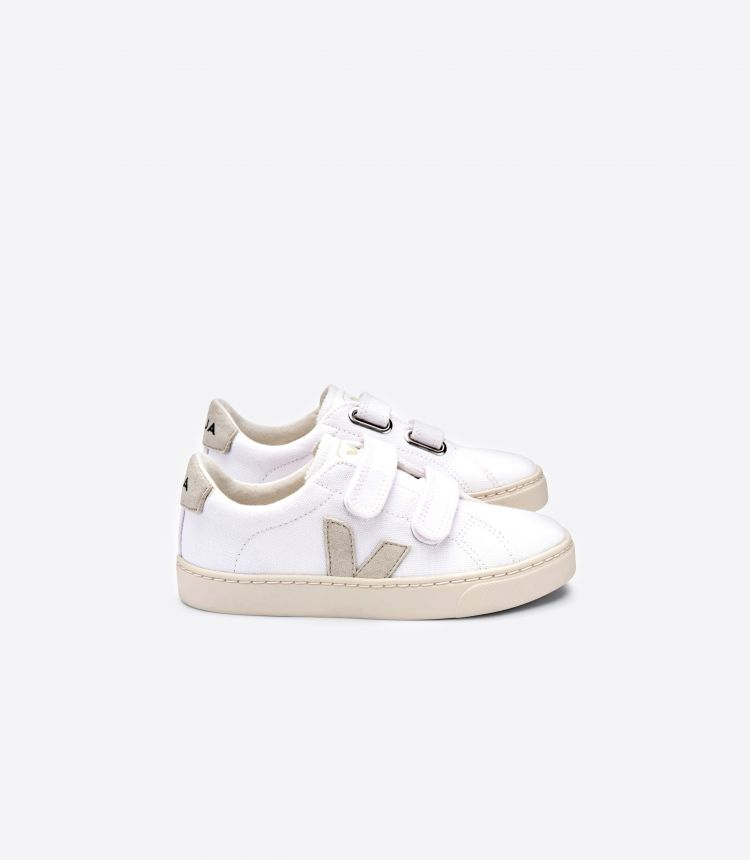 ESPLAR VELCRO CANVAS WHITE NATURAL