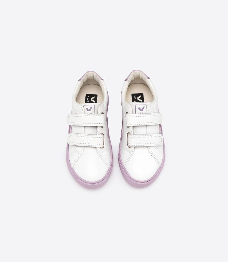ESPLAR VELCRO LEATHER WHITE LILA