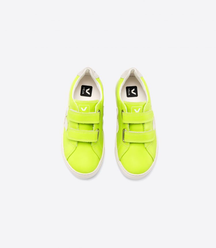 ESPLAR VELCRO LEATHER JAUNE FLUO PIERRE