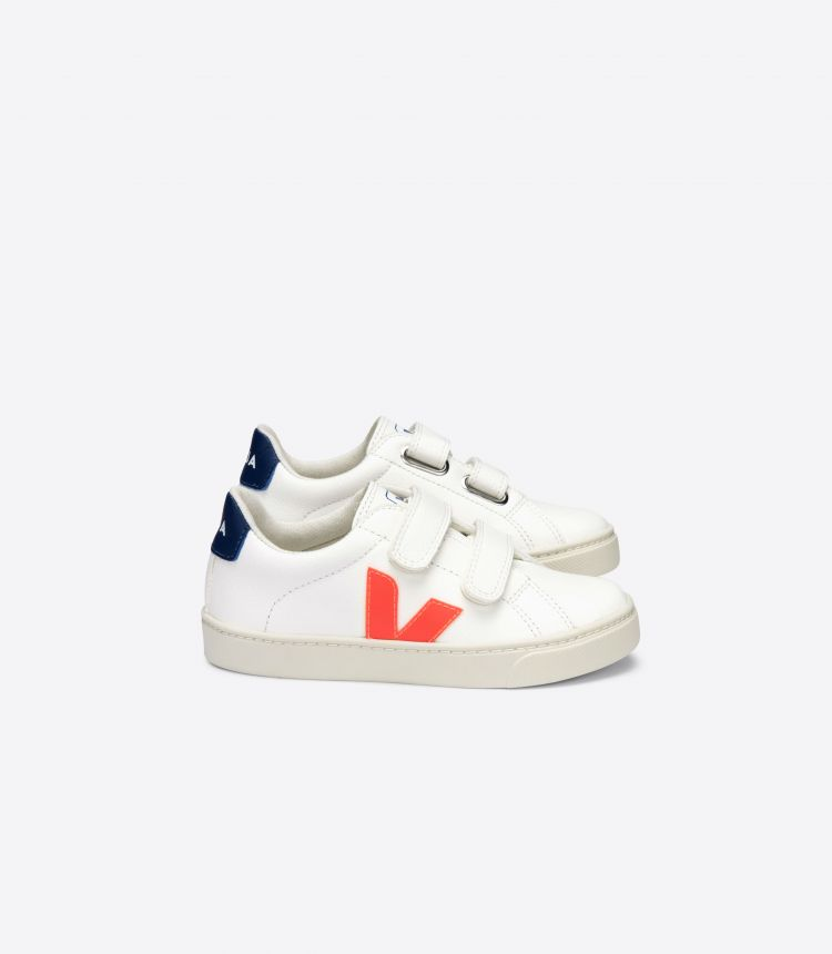 ESPLAR VELCRO CHROMEFREE WHITE ORANGE-FLUO COBALT