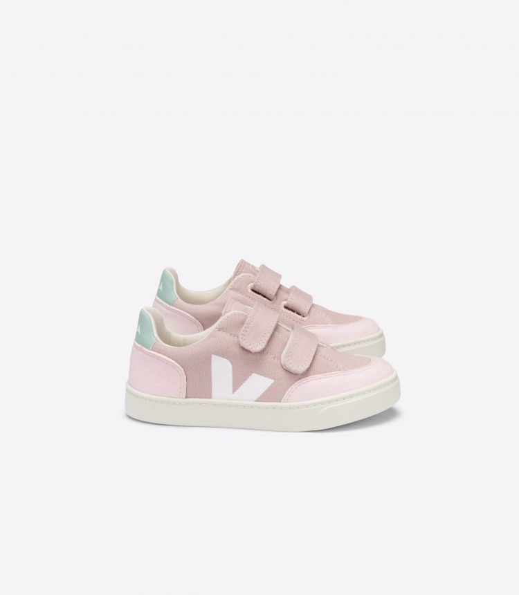 V-12 VELCRO CANVAS BABE WHITE MATCHA