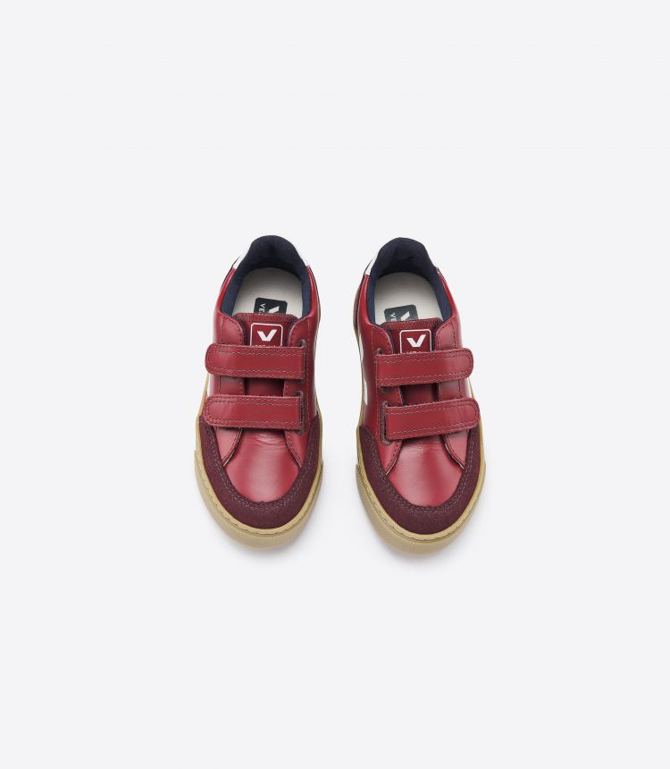 V-12 VELCRO LEATHER MARSALA GUM SOLE