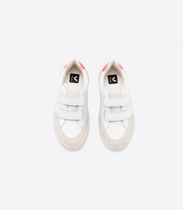 V-12 VELCRO LEATHER WHITE MENTHOL ROSE