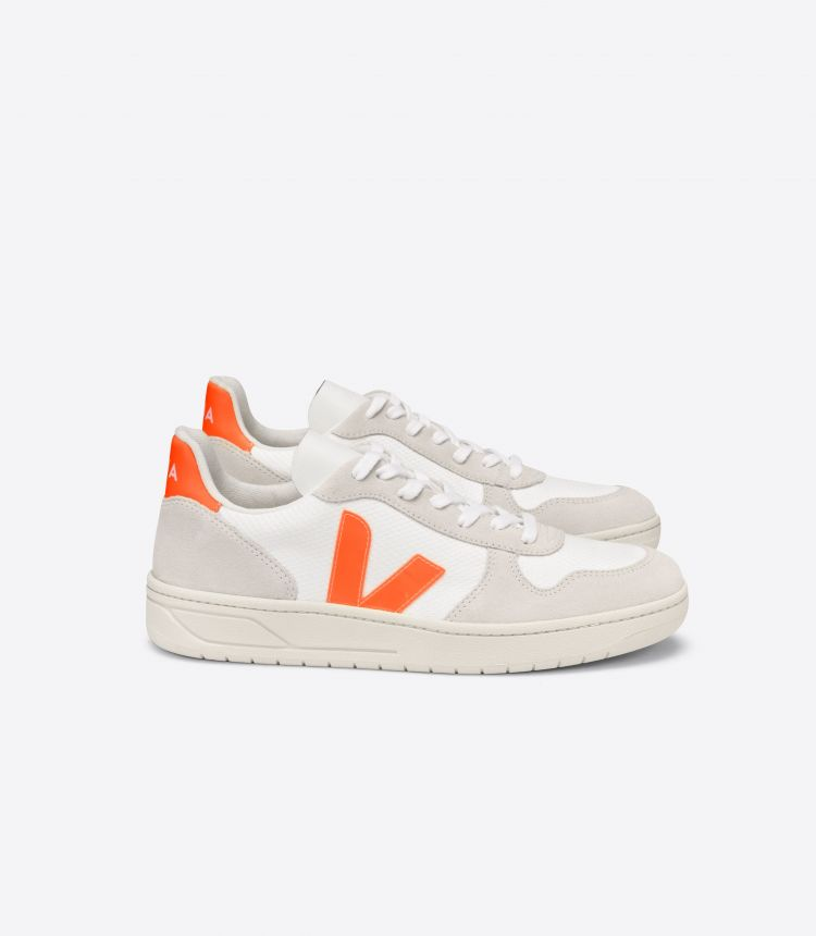V-10 B-MESH WHITE NATURAL ORANGE-FLUO