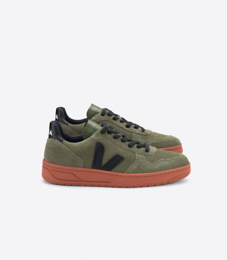V-10 SUEDE OLIVE BLACK RUST SOLE