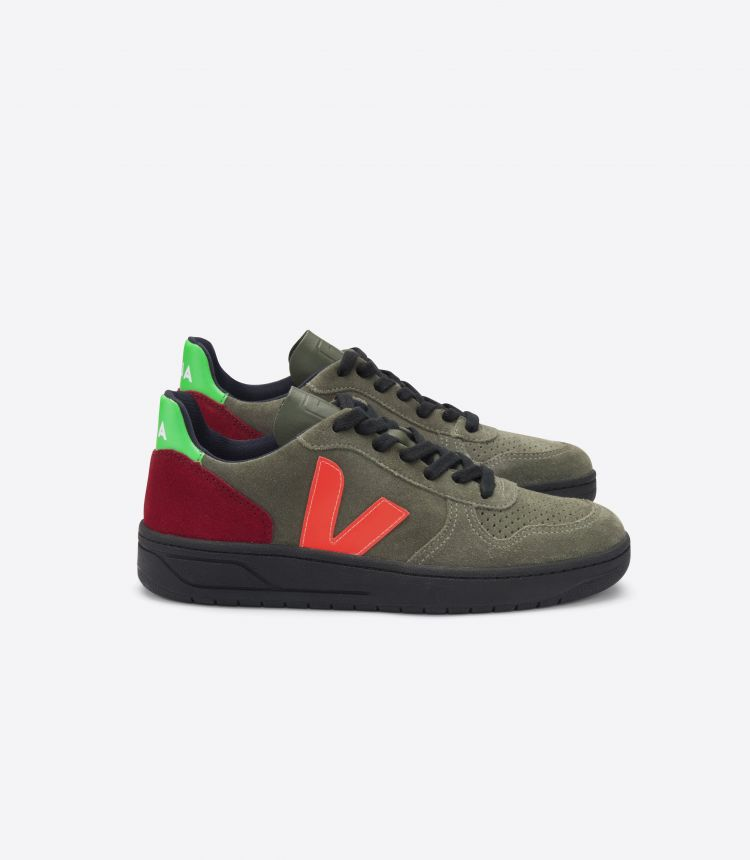 V-10 OLIVE MULTICO-FLUO BLACK-SOLE