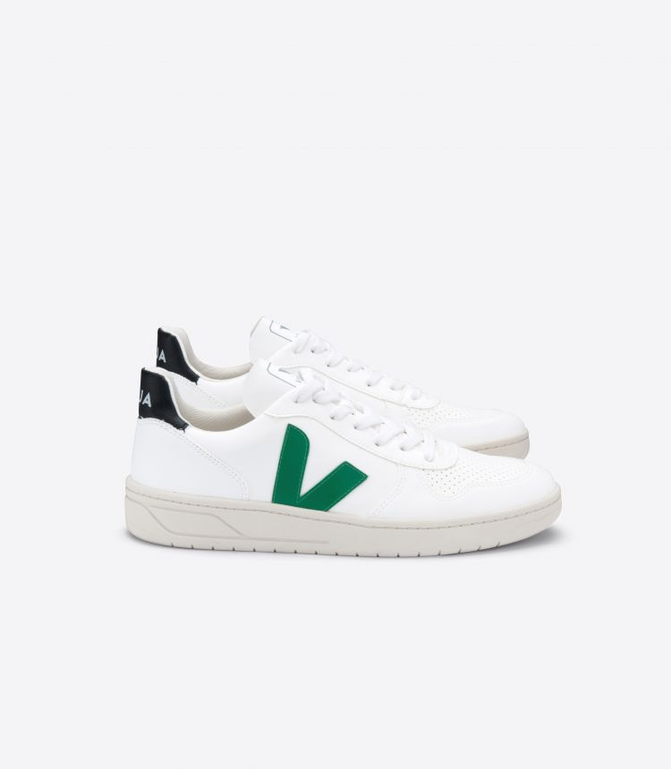 V-10 VEGAN WHITE EMERAUDE BLACK