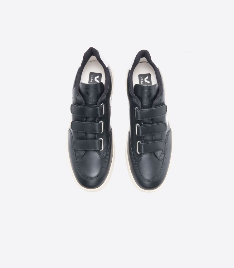 V-LOCK LEATHER BLACK WHITE BUTTER SOLE