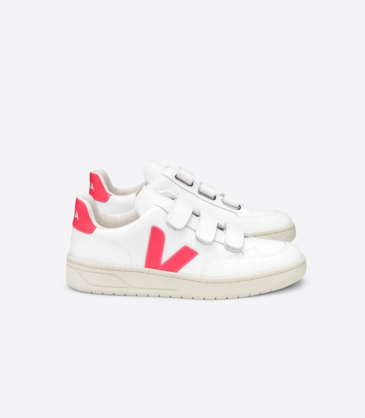 V-LOCK LEATHER WHITE ROSE FLUO