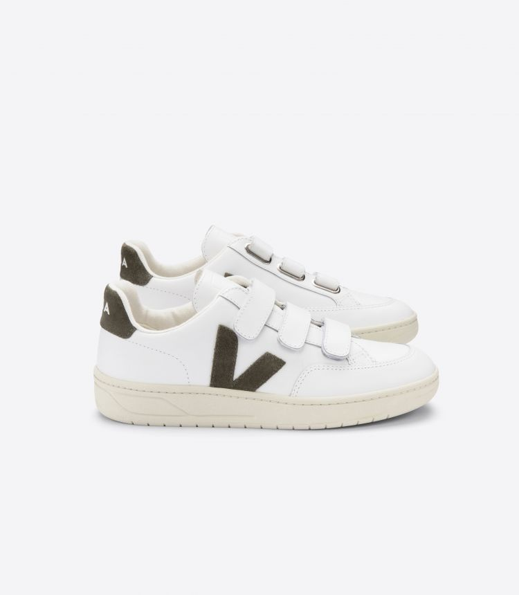 V-LOCK LEATHER WHITE KAKI