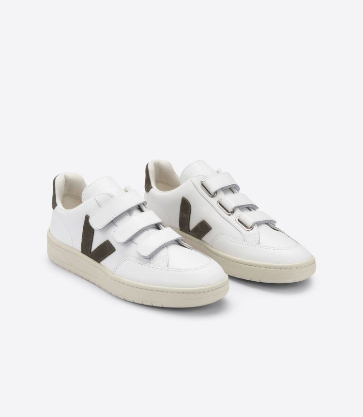 V-LOCK LEATHER EXTRA WHITE KAKI