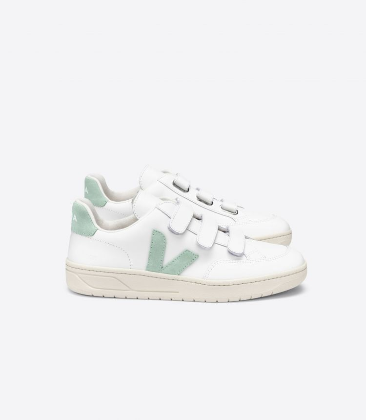 V-LOCK LEATHER WHITE MATCHA