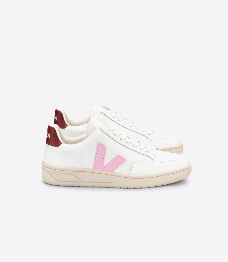 V-12 LEATHER WHITE GUIMAUVE MARSALA