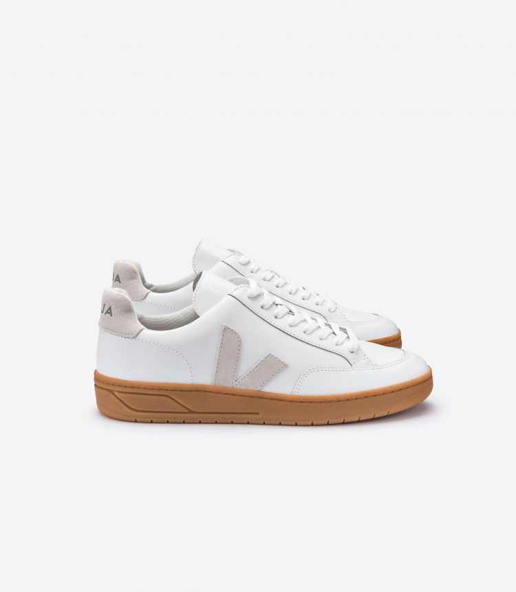 V-12 LEATHER WHITE NATURAL NATURAL SOLE