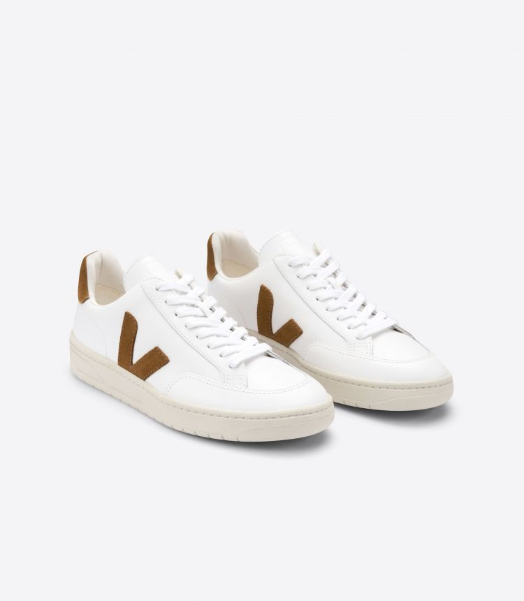V-12 LEATHER WHITE CAMEL
