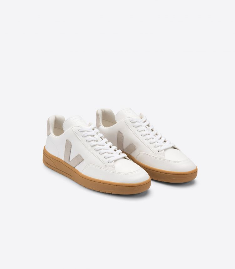 V-12 LEATHER WHITE NATURAL GUM SOLE