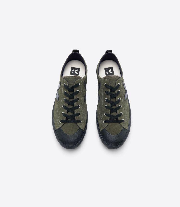 NOVA SUEDE OLIVE BLACK SOLE