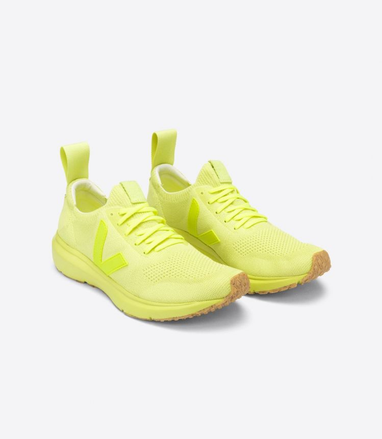 V-KNIT VEJA X RICK OWENS FULL ACID YELLOW