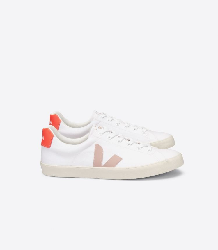 ESPLAR SE CANVAS WHITE BABE ORANGE-FLUO
