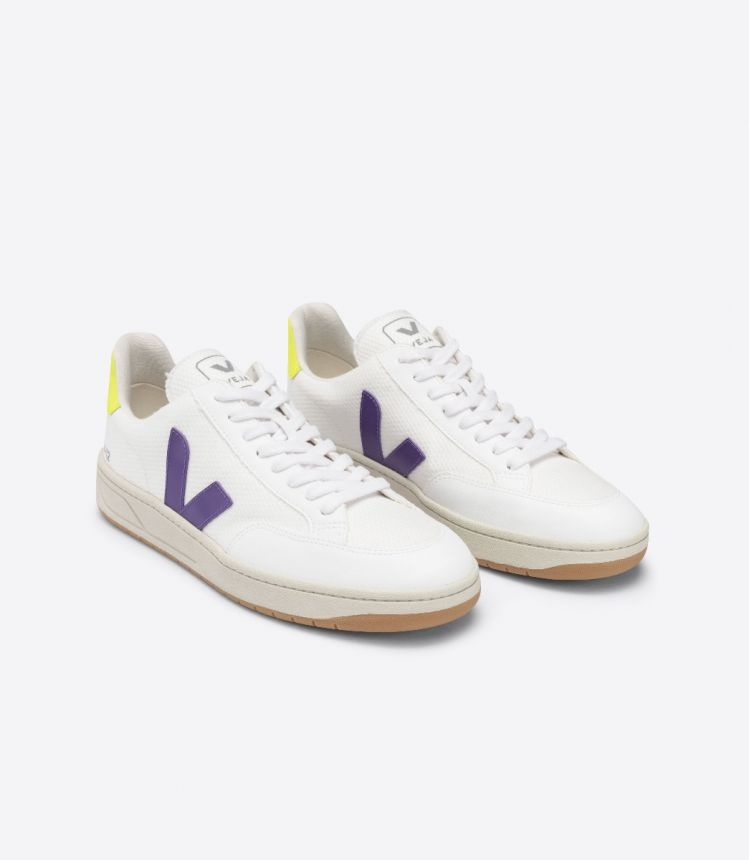 V-12 B-MESH WHITE PURPLE JAUNE-FLUO