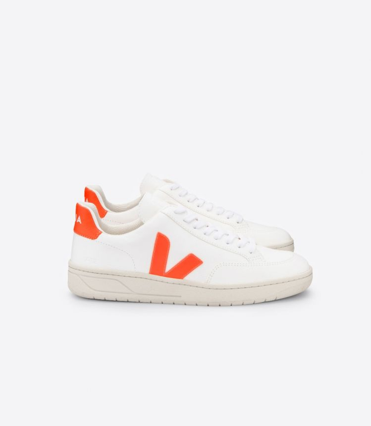 V-12 CHROMEFREE LEATHER WHITE ORANGE