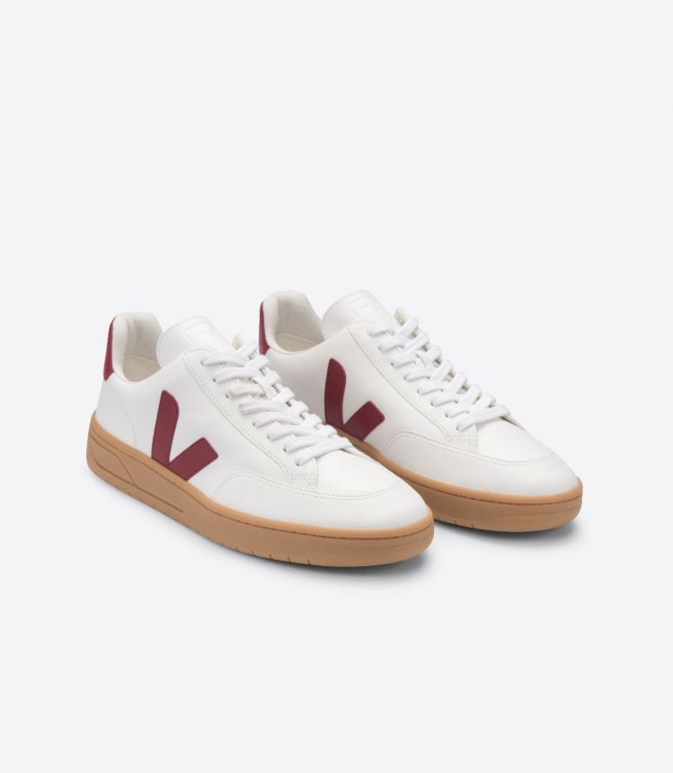 V-12 LEATHER WHITE MARSALA GUM SOLE