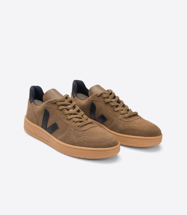 V-10 SUEDE BROWN BLACK GUM-SOLE