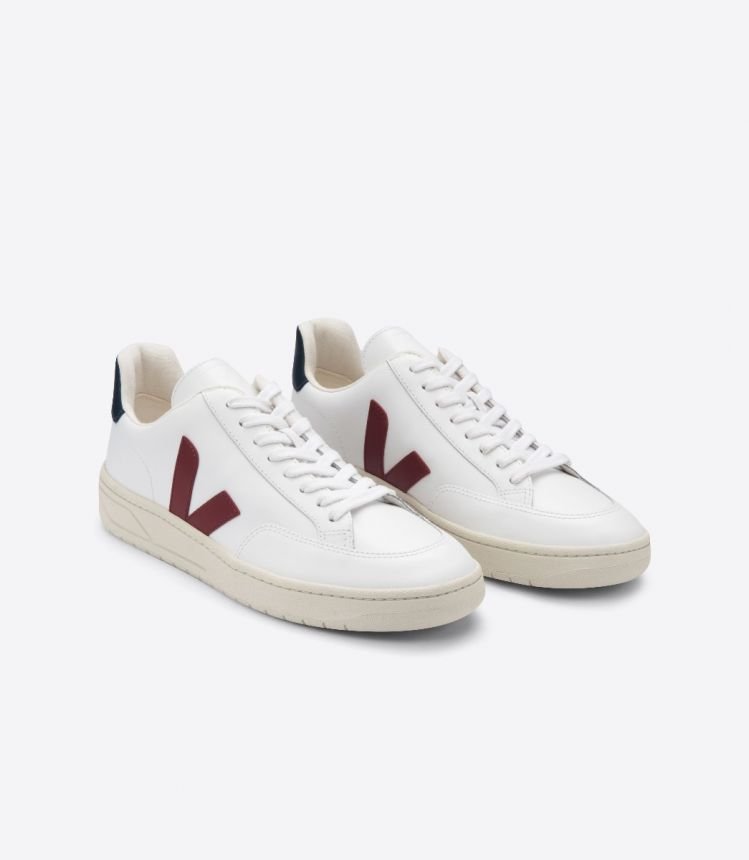 V-12 LEATHER WHITE MARSALA NAUTICO