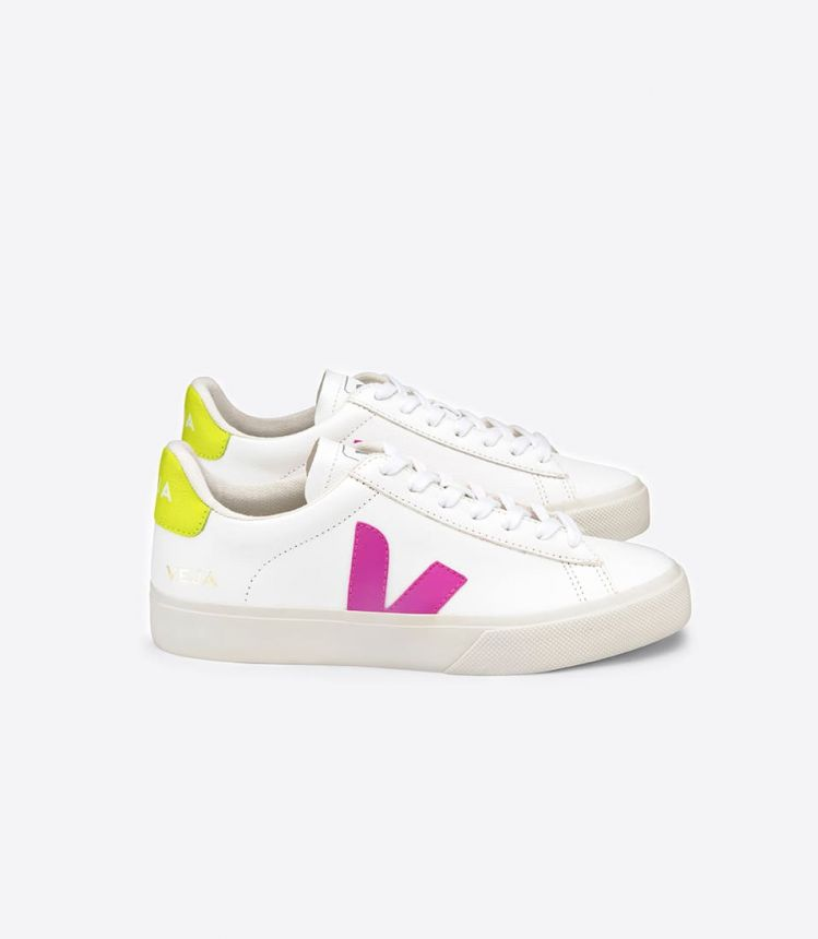 CAMPO CHROMEFREE LEATHER WHITE ULTRAVIOLET JAUNE FLUO